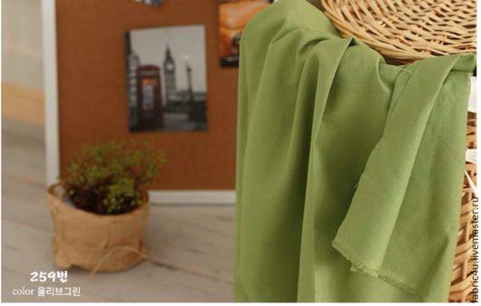 Шитье ручной работы. Ярмарка Мастеров - ручная работа. Купить Однотонный лен оливковый цвет. Handmade. Лен, оливковый