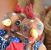 Подарки к праздникам ручной работы. Ярмарка Мастеров - ручная работа Символ 2017 года - Петушок (с женой и детками). Handmade.