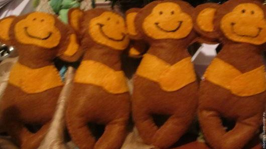 Игрушки животные, ручной работы. Ярмарка Мастеров - ручная работа. Купить обезьянки. Handmade. Игрушка ручной работы, изготовление на заказ