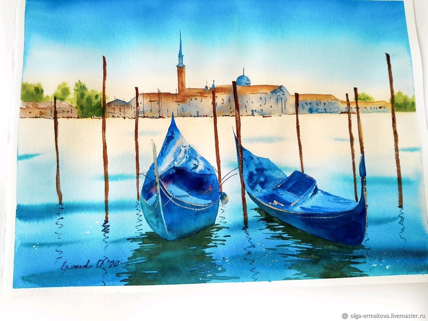 Venice in a watercolor painting with the sea as a gift, Pictures, Moscow,  Фото №1