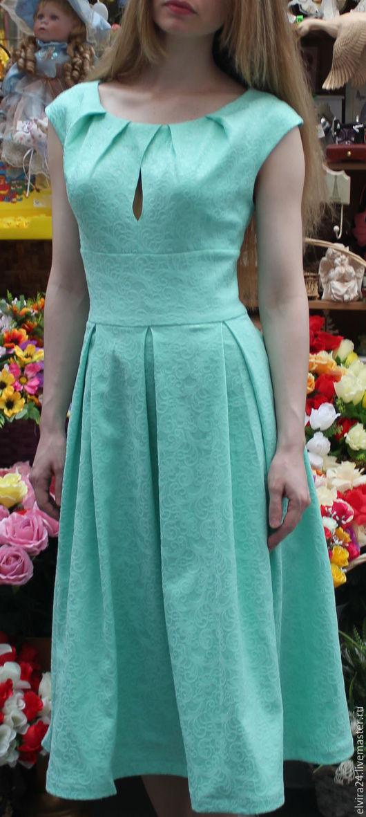 Платья ручной работы. Ярмарка Мастеров - ручная работа. Купить Платье цвета мяты. Handmade. Бирюзовый, стильное, оригинальное, летнее