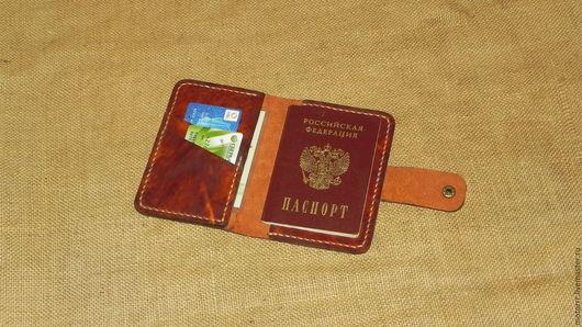 """Обложки ручной работы. Ярмарка Мастеров - ручная работа. Купить Обложка для паспорта """"Денвер"""". Handmade. Коричневый, обложка на документы"""