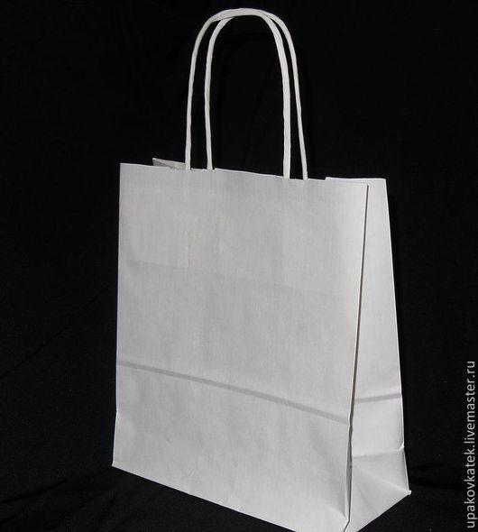 Упаковка ручной работы. Ярмарка Мастеров - ручная работа. Купить Крафт пакет с кручеными ручками 32х24х11 и 34х26х11. Handmade. Белый