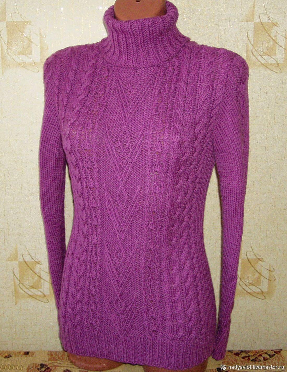 "Шерстяной свитер""Светлый цикламен"", Sweaters, Severodvinsk,  Фото №1"