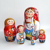 Русский стиль handmade. Livemaster - original item Matryoshka 5 places