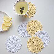Для дома и интерьера ручной работы. Ярмарка Мастеров - ручная работа Подставки под чашки, мини-салфетки. Handmade.