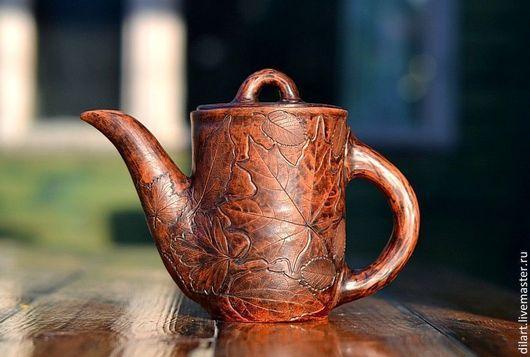 Чайники, кофейники ручной работы. Ярмарка Мастеров - ручная работа. Купить Заварочный керамический чайник ручной работы Таинственный Лес. Handmade.