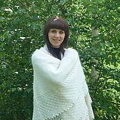 Сувениры и подарки handmade. Livemaster - original item 46 Orenburg downy shawl, white shawl,