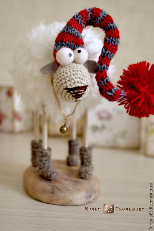 Игрушки животные, ручной работы. Ярмарка Мастеров - ручная работа. Купить Овечка в колпачке )). Handmade. Серый, овца игрушка