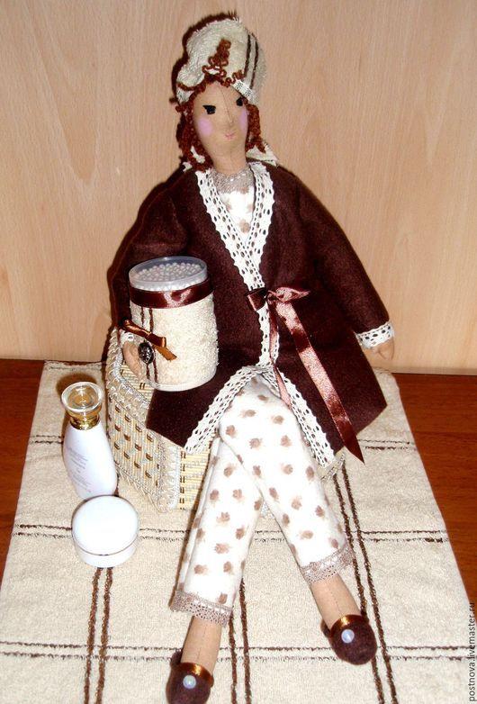 Куклы Тильды ручной работы. Ярмарка Мастеров - ручная работа. Купить Банная Фея.. Handmade. Бежевый, кукла интерьерная, фланель