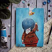 """Картины и панно ручной работы. Ярмарка Мастеров - ручная работа Репродукция картины Е.Гапчинской """"За пирожком"""". Handmade."""