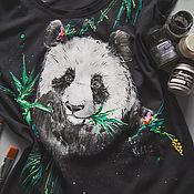 Одежда ручной работы. Ярмарка Мастеров - ручная работа футболка Панда. Handmade.