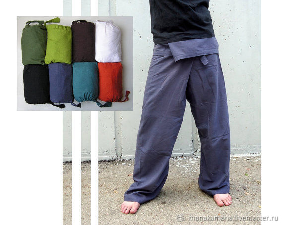 Thai Pants 'Fishermen' mixed in bags, Pants, Tel Aviv,  Фото №1