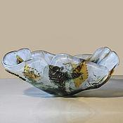 """Посуда ручной работы. Ярмарка Мастеров - ручная работа Вазочка """"Прозрачная осень"""". Handmade."""