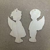 Подарки к праздникам ручной работы. Ярмарка Мастеров - ручная работа Елочные игрушки ангелочки, заготовки.. Handmade.