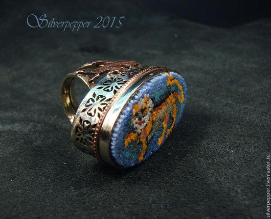 """Кольца ручной работы. Ярмарка Мастеров - ручная работа. Купить Перстень """"Византийский лев"""". Handmade. Разноцветный, кольцо ручной работы"""