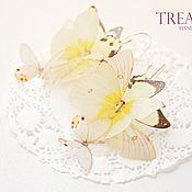Свадебный салон handmade. Livemaster - original item Long earrings with butterflies. Handmade.