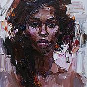 Картины и панно handmade. Livemaster - original item African woman portrait Original oil painting. Handmade.