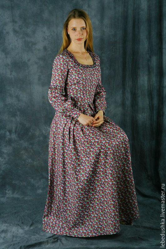 """Платья ручной работы. Ярмарка Мастеров - ручная работа. Купить Платье в пол """"Галадриэль"""". Handmade. Цветочный, хлопковое платье"""