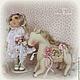 Коллекционные куклы ручной работы. ЛЕЯ.... Коллекционная текстильная кукла. Алена Мазалова. Ярмарка Мастеров. Шебби, розовый, девочка