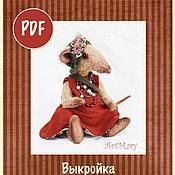 Материалы для творчества ручной работы. Ярмарка Мастеров - ручная работа PDF Выкройка крыса Клавдия. Handmade.