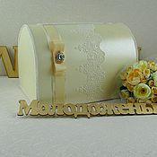 Свадебный салон ручной работы. Ярмарка Мастеров - ручная работа Свадебный сундучок «Венеция». Handmade.