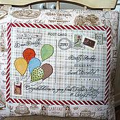 """Для дома и интерьера ручной работы. Ярмарка Мастеров - ручная работа Подушка-окрытка """"Father`s Day!"""". Handmade."""