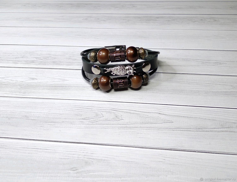 Unisex Owl Bracelet, Bead bracelet, Moscow,  Фото №1