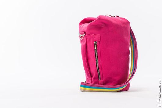 Женские сумки ручной работы. Ярмарка Мастеров - ручная работа. Купить Duffle bag- S size. Handmade. Розовый, вышивка