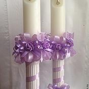 Свадебный салон ручной работы. Ярмарка Мастеров - ручная работа Крестильные свечи. Handmade.