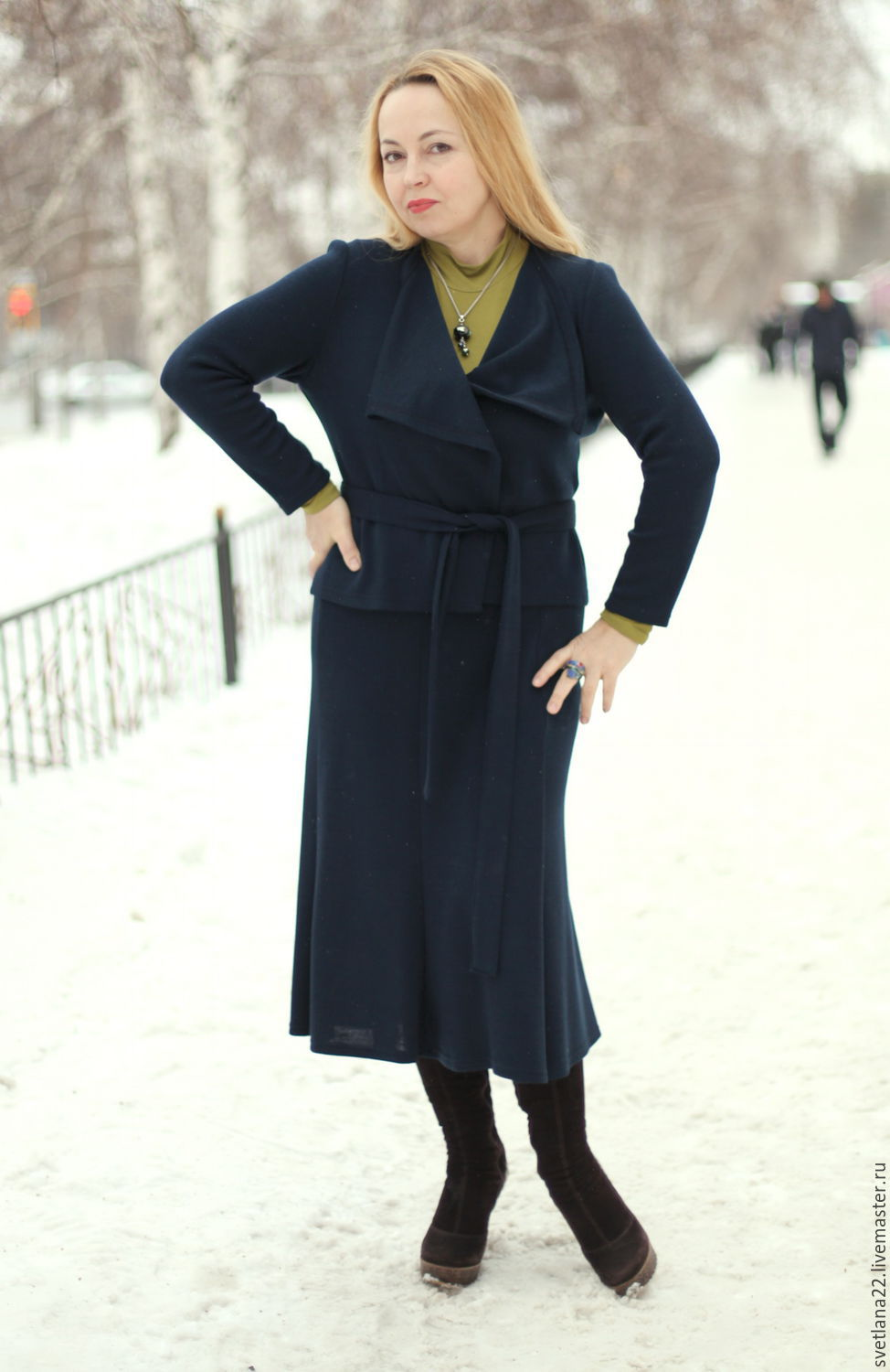 """Knitted suit """"Urban chic with a skirt-""""year"""", Suits, Pavlodar, Фото №1"""