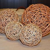 Материалы для творчества handmade. Livemaster - original item Decorative woven ball of willow vine. Handmade.