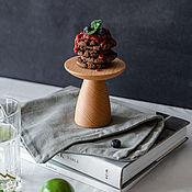 Для дома и интерьера handmade. Livemaster - original item Stand for cupcakes and cakes made of SIBERIAN CEDAR TR5. Handmade.