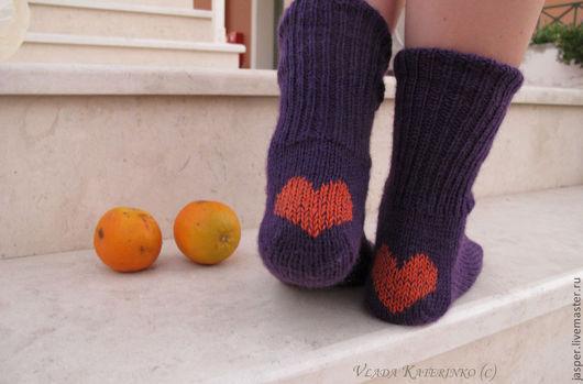 Носки, Чулки ручной работы. Ярмарка Мастеров - ручная работа. Купить Носочки для Феи.. Handmade. Тёмно-фиолетовый, носки