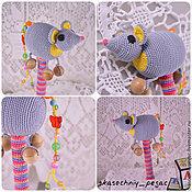 """Куклы и игрушки ручной работы. Ярмарка Мастеров - ручная работа Погремушка """"Мышка"""". Handmade."""