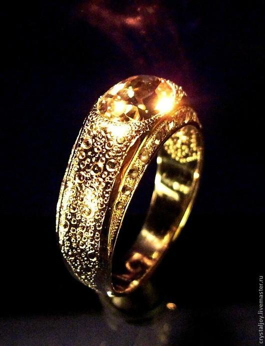 """Кольца ручной работы. Ярмарка Мастеров - ручная работа. Купить """" Мастер"""". Handmade. Лимонный, золото, Бриллиант"""