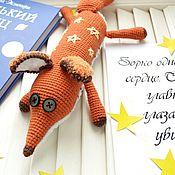 Мягкие игрушки ручной работы. Ярмарка Мастеров - ручная работа Вязаный лис из маленького принца. Handmade.