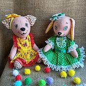 Мягкие игрушки ручной работы. Ярмарка Мастеров - ручная работа Собака игрушка мягкая для детей подарок Соня. Handmade.
