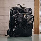 handmade. Livemaster - original item Leather backpack for women