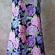 Платья ручной работы. Платье Гортензия Хлопок 100%. On-line tailor. Ярмарка Мастеров. Платье с цветами, пляж