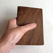 Канцелярские товары ручной работы. Ярмарка Мастеров - ручная работа Деревянная обложка для паспорта. Handmade.