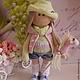 Коллекционные куклы ручной работы. Ярмарка Мастеров - ручная работа. Купить Текстильная куколка- малышка Леся. Handmade. Салатовый, блондинка