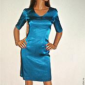 Одежда handmade. Livemaster - original item Turquoise sheath dress. Handmade.
