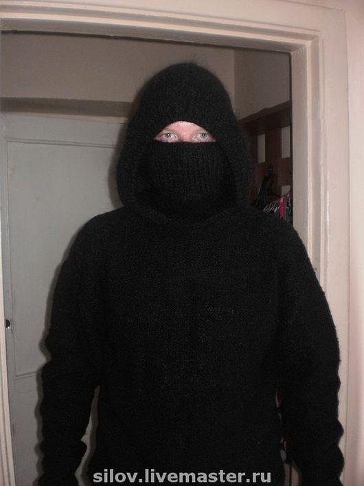 Для подростков, ручной работы. Ярмарка Мастеров - ручная работа. Купить Теплый вязаный свитер с капюшоном. Handmade. Свитер