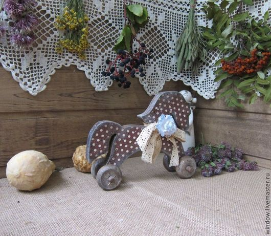 """Детская ручной работы. Ярмарка Мастеров - ручная работа. Купить Лошадка интерьерная """"Маруся"""". Handmade. Коричневый, лошадка деревянная"""