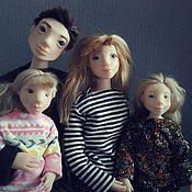 Кукольная семья - Мама,  папа и две дочки