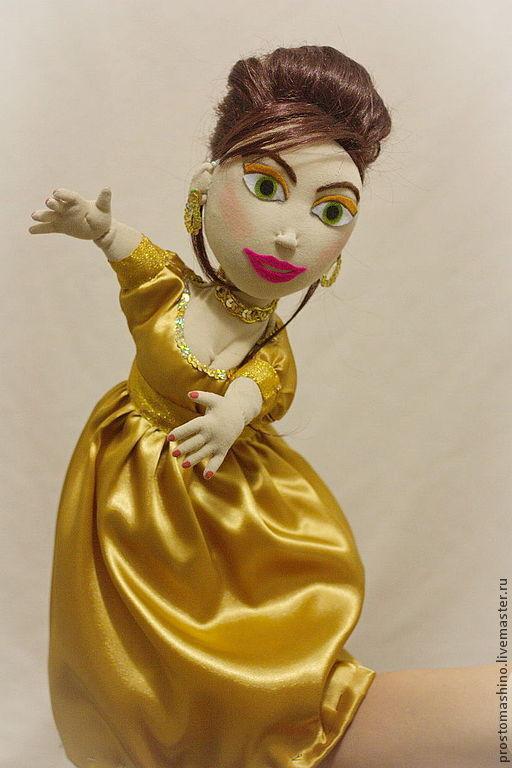 """Кукольный театр ручной работы. Ярмарка Мастеров - ручная работа. Купить Театральная перчаточная кукла """"Ведущая"""". Handmade. Кукольный театр"""