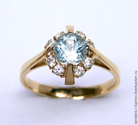 Кольца ручной работы. Ярмарка Мастеров - ручная работа. Купить кольцо с крупным топазом (золото 585, серебро 925). Handmade.
