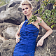 """Платья ручной работы. Ярмарка Мастеров - ручная работа. Купить Платье """"Ночная синева"""". Handmade. Синее платье, стильное платье"""