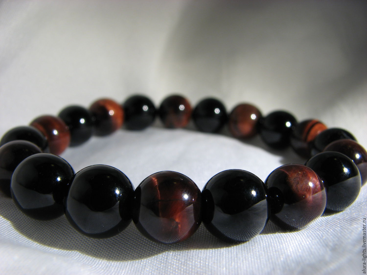 Black agate and bull's eye bracelet ' Your style', Bead bracelet, Moscow,  Фото №1
